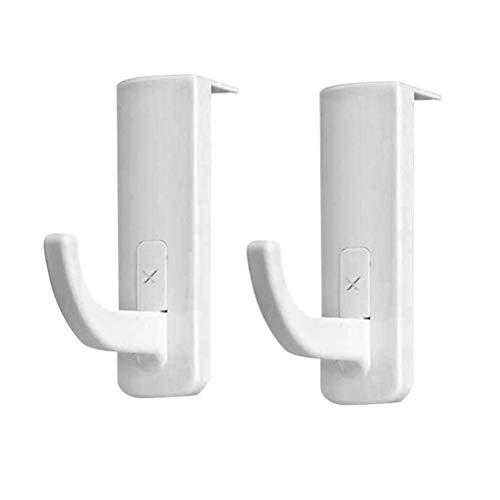 Uonlytech 2 stücke Kopfhörer Halter Haken Selbstklebende Headset Rack Aufhänger für Internet Cafe Home (weiß) - Internet-kopfhörer