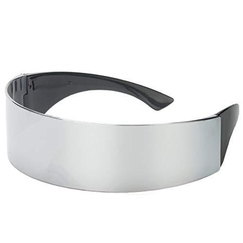 istisch Verpackung um Monob Kostüm Sonnenbrille Maske Neuheit Gläser Halloween-Party-Bevorzugungs-Partei-Dekoration Supplies [Silber 2pc] ()