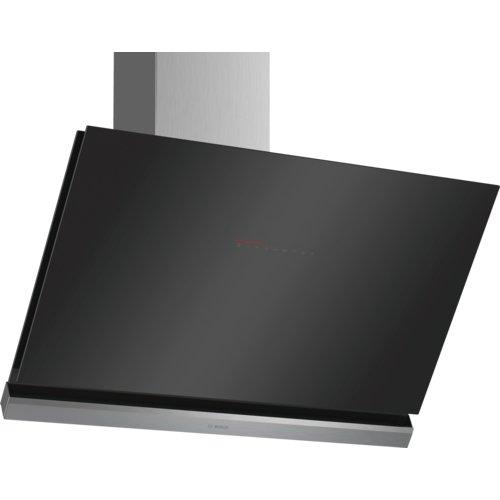 Bosch DWK98PP60 Dunstabzugshaube/Serie 8 Wandesse/90 cm/Schräg-Essen-Design/schwarz
