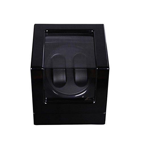 LWBAN-Packing 2018 Automatica di Legno Ruota Watch Winder, Motore Tabella di Sicurezza, Scatole Carica Orologi, 2+0 Posizioni, 101