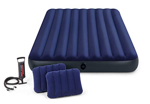 Intex Luftbett Classic Downy Blue Queen Set, blau, 152 x 203 x 22 cm/4-teilig - 6