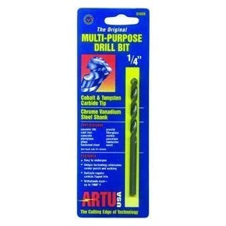 ARTU USA 01030 Multi Purpose Drill Bit, 1/4-Inch x 4-1/4-Inch by Artu USA