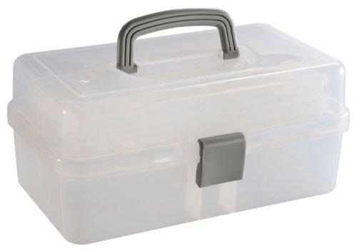 Preisvergleich Produktbild Künstler Caddy Box Aufbewahrungsbox Künstler klar leer Craft Box Travel Make Up Werkzeugkoffer