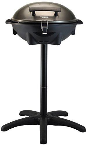 Tristar elektrischer Tisch- und Standgrill - 46x35cm Grillfläche, 3M Kabelzuleitung, inkl. Druckgussplatte, regelbare Heizstufe, 2200 Watt, BQ-2816