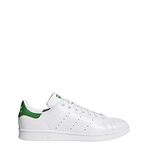 adidas Originals, Stan Smith, Sneakers, Unisex - Adulto, Bianco (Footwear White/Core White/Green), 42 2/3 EU