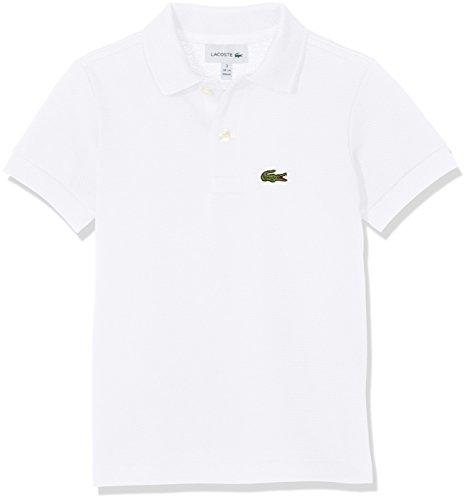 Lacoste Jungen Pj2909 Poloshirt, Weiß (Blanc), 10 Jahre (Herstellergröße: 10A)