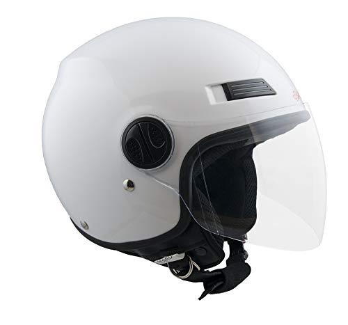 Casco demi jet SKA-P 1LH METROPOLI Bianco metal, S