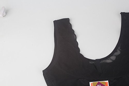 DODOING Nahtlose Body Shaper Offene Büste Bodysuit Shapewear Miederslip für Frauen Bauch Kontrolle Schwarz