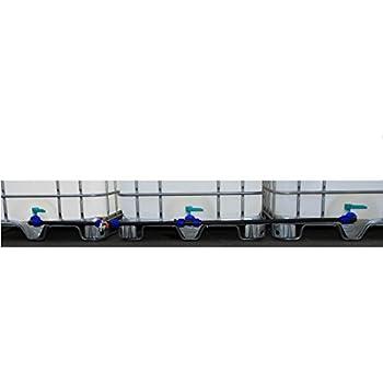 IBC Verbinder Regentonnenverbinder Tankverbinder DN 80 3-fach nebeneinander