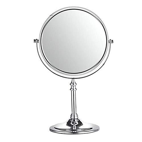 HCHD 3X Vergrößerungsrundspiegel Doppelseitiger freistehender Tisch-Kosmetikspiegel für detailliertes Make-up Vergrößerungsspiegel für Badezimmer (12 Runden Tisch Spiegel)