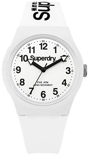 Superdry Herrenuhr Analog Quarz mit Silikonarmband - SYG164WW