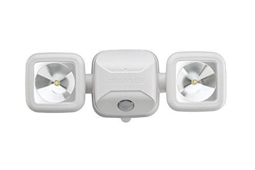 MrBeams Spot LED à piles avec détecteur de mouvement, Plastique, 1er-Pack weiß, 1er-Pack