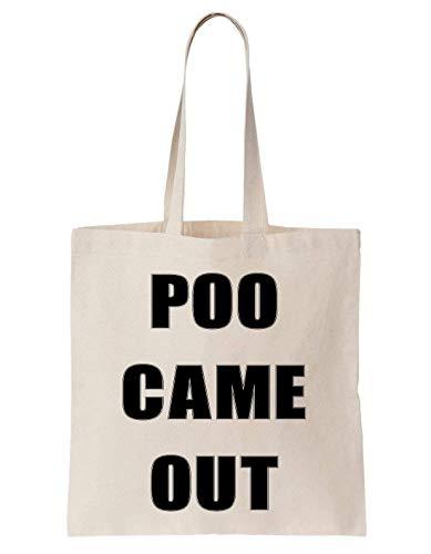 KRISSY Poo Came Out Emoji Poop Happy Cool Joke Smile Schultertasche Tote Bag