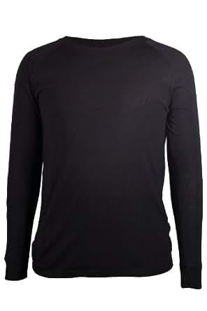 Mountain Warehouse Talus Mens Base Layer Ski Hiking Walking Cycling Thermal Long Sleeve Top T-Shirt Black X-Small