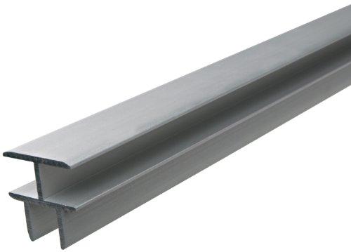 GAH-Alberts 473402 T-Profil - selbstklemmend, Aluminium, silberfarbig eloxiert, 1000 x 24,9 x 24 mm