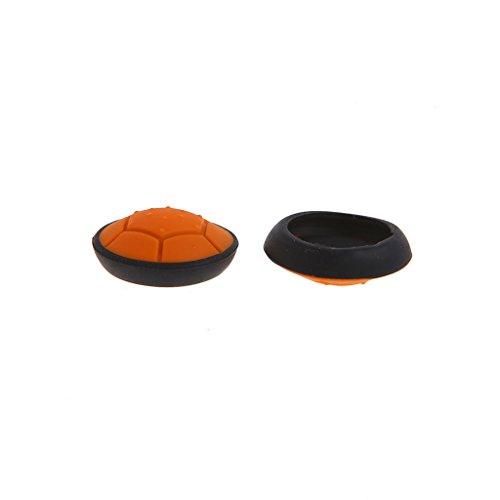 ringbuu 1Paar Schildkröte Thumbstick Grip Joystick Kappen für PS3PS4Xbox One 360Controller Orange Orange