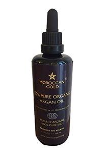 Moroccan Gold 100 Percent Organic Pure Argan Oil 100 ml from Earth Organics
