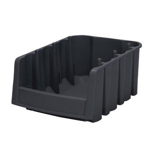 10 Schublade Breite Brust (akro-mils 30776Wirtschaft Stapeln, Nistkasten Kunststoff Storage Bin, 17–7/20,3cm lang von 6–5/8Zoll Breite, Bluetooth High, schwarz, Fall von 10)