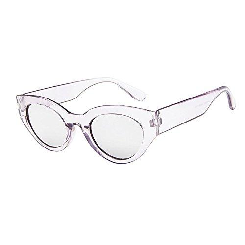 Honestyi Retro Rapper ovale Form Rahmen Sonnenbrille Eyewears der Frauen Männer Elliptische Sonnenbrille