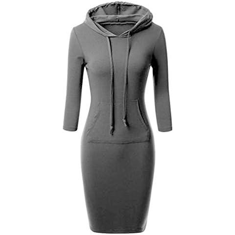 dress Koly Le donne con cappuccio vestito casuale a maniche lunghe - Legami Anima