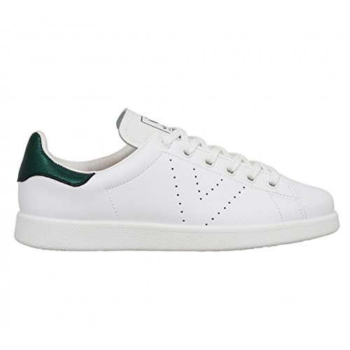 Victoria Deportivo Basket Piel, Sneakers Basses mixte adulte Blanc et Vert