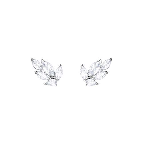 Swarovski Louison Ohrstecker für Frauen, weißes Kristall, rhodiniert