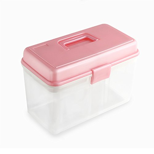 YLLYPX Medizinbox Hausapotheke Sicherheitsschloss Erste-Hilfe-Set Medizinschrank Untersuchungsbox Notfallmedikament Box Medikamentenbox...