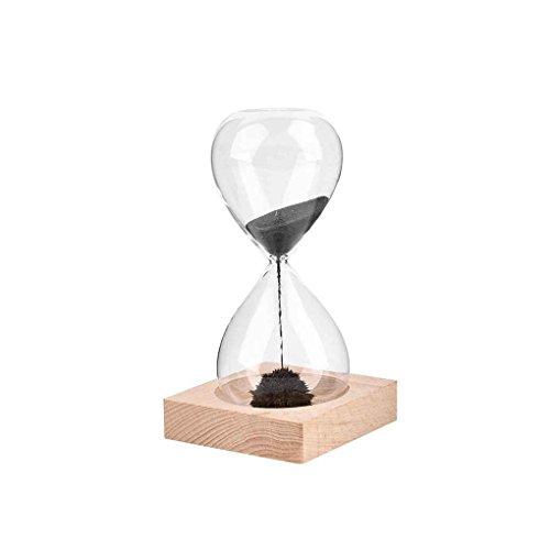 Mengonee Holzfuß Magnet Handwerk Sanduhr Mundgeblasenem Sand Timer Für Geschenk Desktop Dekoration