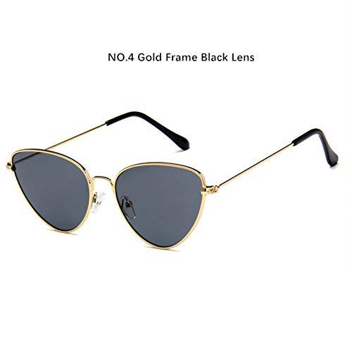 sijiaqi Unisex SonnenbrilleKaleidoskop Brille Metall Cat Eye Sunglasse Frauen Dreieck Sonnenbrille Female Lens Brille,Style 4
