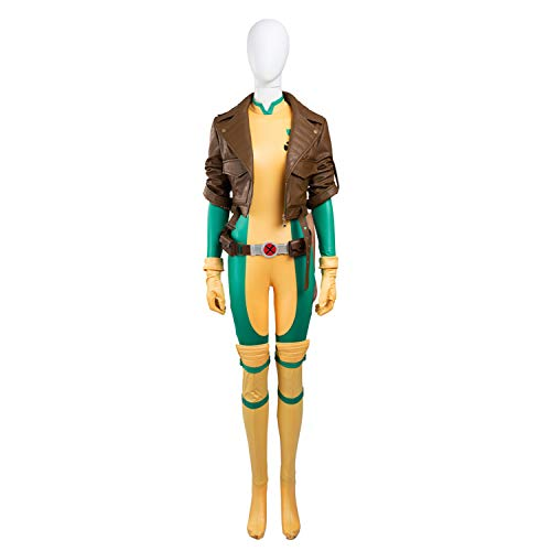 Kostüm Marvel Rogue - QWEASZER Marvel Superheld X-Men Rogue Kostüm Ladies Avengers Cosplay Kostüm Jacken, Overalls, Handschuhe Halloween Movie Anime Kostüm Requisiten,Anna Marie-XXXL