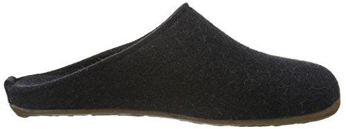 Haflinger Fundus, Ciabatte Unisex – Adulto Grigio (Grau (Graphit 77))