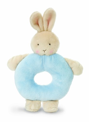 BUNNY RING RATTLES-BLUE