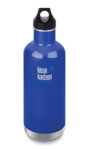 KLEAN KANTEEN 946ML WATER BOTTLE WITH LOOP CAP COASTAL WATERS