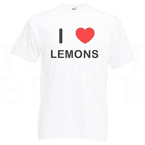 I Love Lemons - T-Shirt Weiß