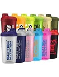 Scitec Nutrition - Shaker 12 Farben MIX Box ,700ml mit Sieb (2 Shaker)