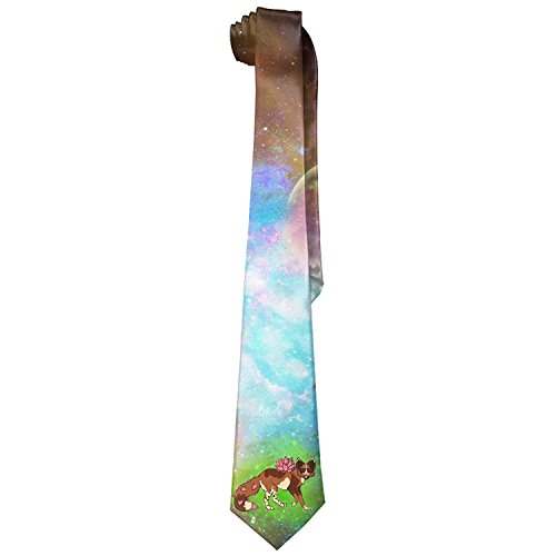 Funny Flower Fox In Glasses Mens Fashion Skinny Necktie Ties Novelty Necktie Silk