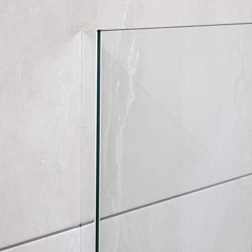 U-Profil Aluminium für Glas (Wandbefestigung),Wandanschlussprofil für Duschen, 2010 x 20 x 12 x 20 x 2mm, Chromoptik Aluminium-gläser