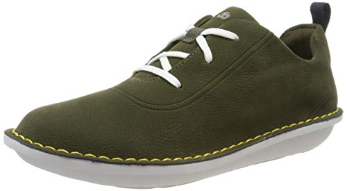 Clarks Step Weltfree, Zapatillas para Mujer, Verde Khaki Khaki, 38 EU