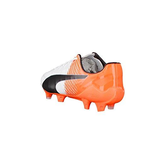 Puma Evospeed Sl-s Ii Fg, Chaussures de Football Compétition Homme Blanc/orange