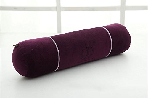 WEBO HOME- 50 * 13cm, oreiller long, oreiller de taille de la femme enceinte, coussin oreiller canapé, coussin de repose-pieds de bain de sommeil -Coussin/oreiller (Couleur : Violet)