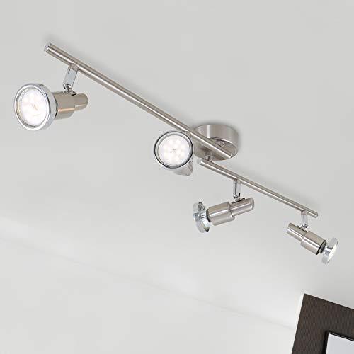 Briloner Leuchten - LED Deckenleuchte, Strahler inkl. Leuchtmittel à 4 W, 4 dreh- & schwenkbare LED-Spot-Lights, Decken-Lampe, Metall, Länge: 67.5 cm -