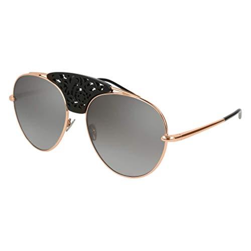 Pomellato pm0033s 002, occhiali da sole donna, oro (002-gold/silver), 59