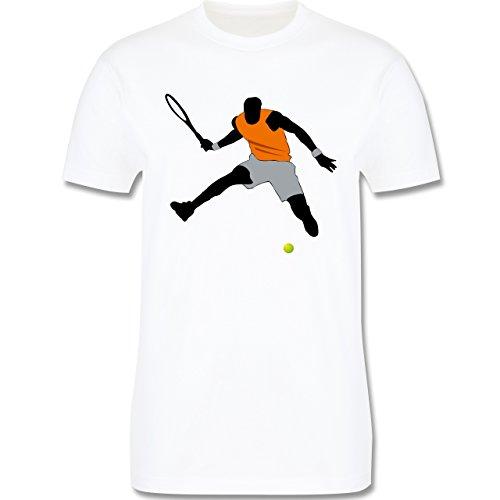 Tennis - Tennis Squash Sprung Tennisball - Herren Premium T-Shirt Weiß