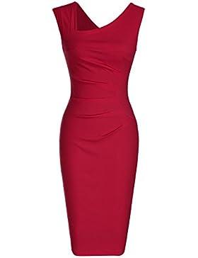 MUXXN Vintage Donna 30s 50s 60s Vestiti Ginocchio-lunghezza Partito Tubino  Vestito 57fe5437df7