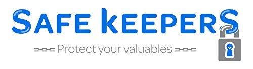 Safekeepers Geldbörse mit kette RFID Biker Herrengeldbörse Leder Geldbeutel Geldtasche mit zuverlässiger RFID /NFC Schutztechnologie Schwarz mit Kette