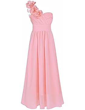 YIZYIF Elegante Vestido De Boda Para Niñas Vestidos Largos con Flores para Noche Fiesta