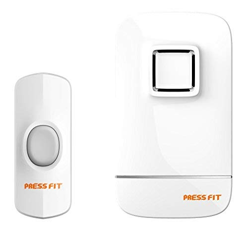 Press Fit Plastic Echo-IV Auto-Learning Wireless Door Bell, Standard, White