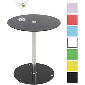 Albatros Glastisch SUNSET Klarglas Beistelltisch rund Cocktailtisch//Couchtisch