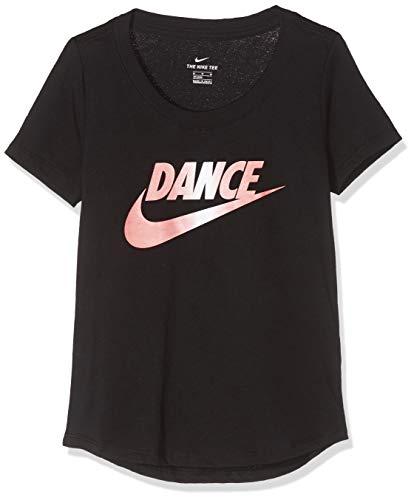 Nike Mädchen G NSW Tee Scoop Dance Swoosh T-Shirt, Black, XL