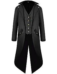 VERNASSA Déguisements Adultes Veste Homme Manteau Rétro Vintage Steampunk Gothique Tailcoat Jacket, Uniforme Costume Partie Vêtements Praty Outwear Coat